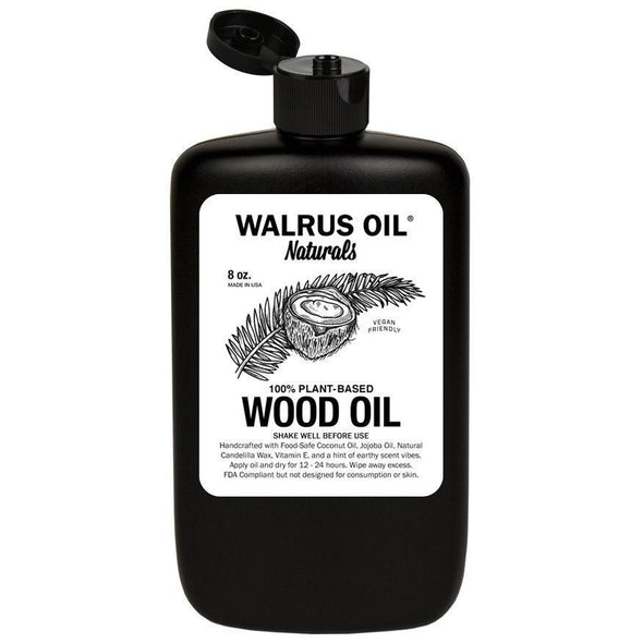 Vegan Wood Oil, 8oz Bottle - Todd Alan Woodcraft