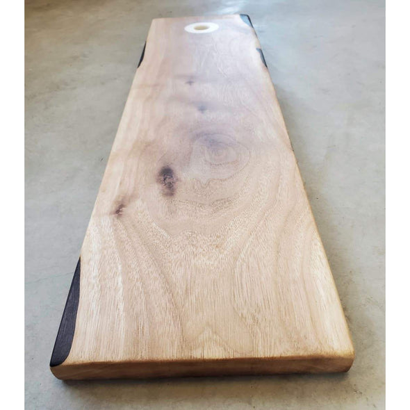 Walnut Serving Board with White Epoxy - Todd Alan Woodcraft