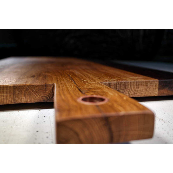 French Roasted Oak Copper Sleeve Charcuterie Board - Todd Alan Woodcraft