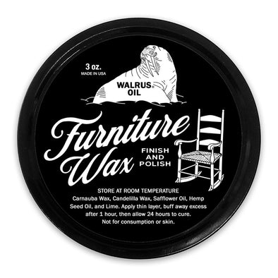 Walrus Oil Furniture Wax Finish and Polish - Todd Alan Woodcraft