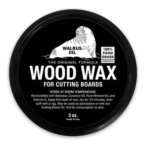 Walrus Oil Wood Wax, 3oz Can - Todd Alan Woodcraft