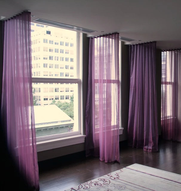 Sheer Drapery Window Covering | HYC Design