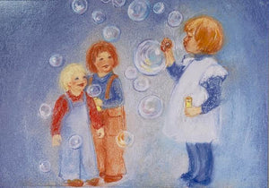 Postcard - Blowing bubbles