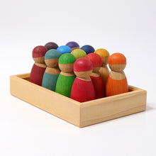 Load image into Gallery viewer, 12 Rainbow friends - cherrywood