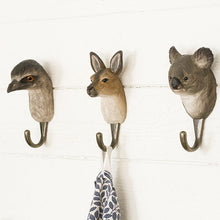 Load image into Gallery viewer, Hand Carved Kangaroo Hook