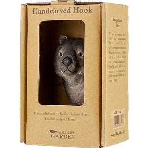 Hand Carved Wombat Hook