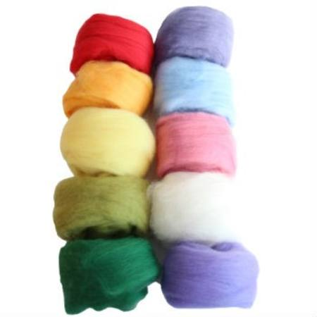 100% Merino Fleece - 10 assorted colours