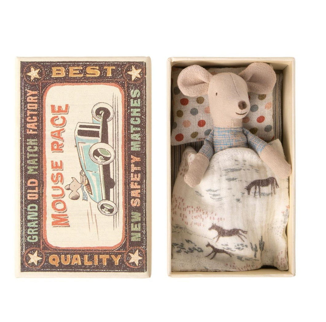 Maileg Mouse, Little Brother in matchbox