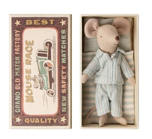 Maileg Mouse, Big Brother in matchbox