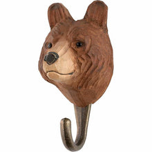 Load image into Gallery viewer, Hand Carved Brown Bear Hook