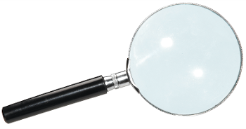 Magnifying glass - metal 75mm