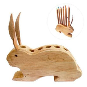 Drei Blatter Wooden Pencil Holder - Bunny