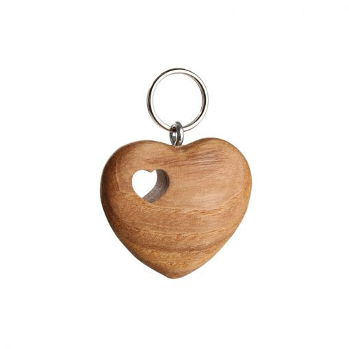 Heart in heart keyring