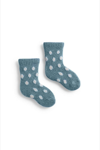 Baby cashmere angora wool dot socks
