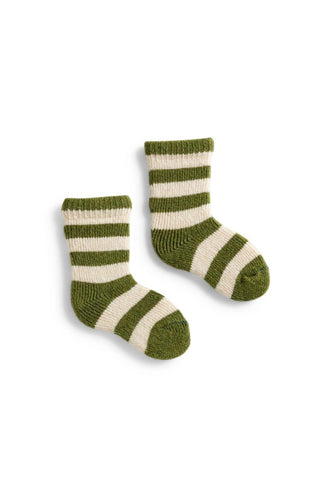 Baby cashmere angora wool rugby stripe socks