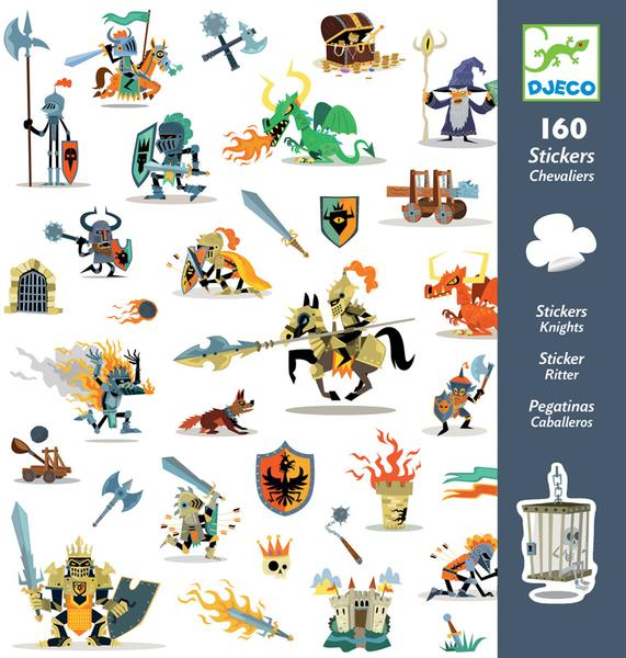 Djeco 160 Stickers - Knights
