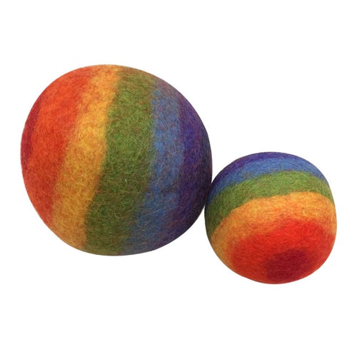 Felt ball - rainbow - 2 sizes