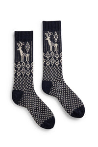 Men's reindeer wool cashmere socks