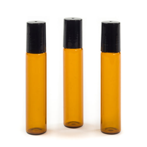10ml Amber glass rollerball bottle