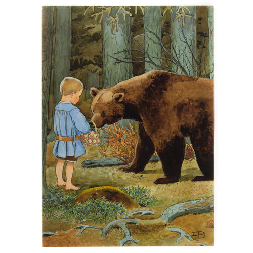 Postcard - Bear in the Woods