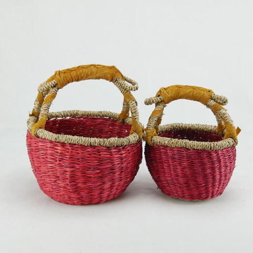 Seagrass Basket - Red