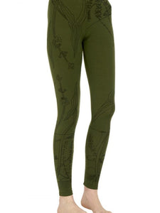 Captain Robbo 'Water Plants' women's merino leggings
