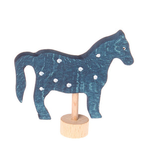 Birthday deco - blue horse