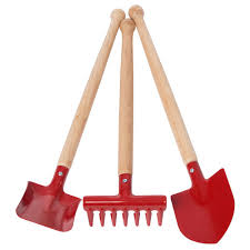 Enamel garden tools - styles red