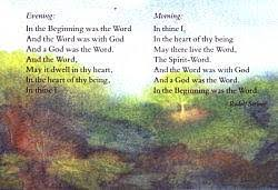 Steiner verse postcard - In the Beginning was the Word
