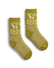 Load image into Gallery viewer, Toddler cashmere angora wool reindeer socks