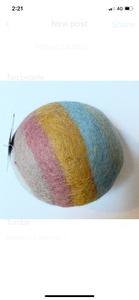 Felt ball - earthy pastel - 2 sizes