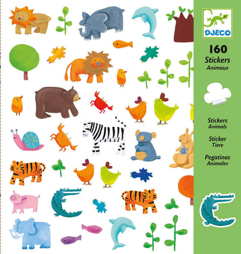 Djeco 160 Stickers - Animals