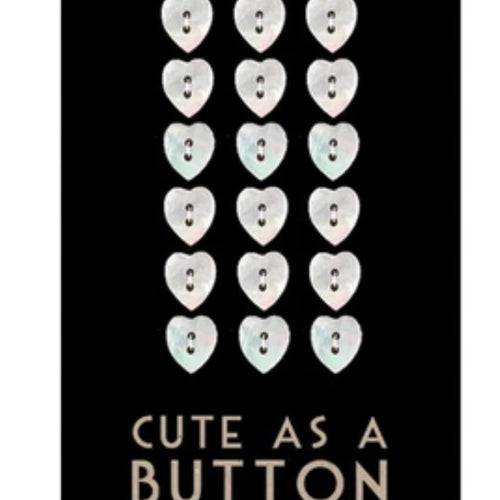 Cute as a Button set - hearts