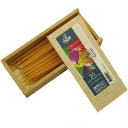 Individual Dipam Mini Tapered Pure Beeswax B'day Candles