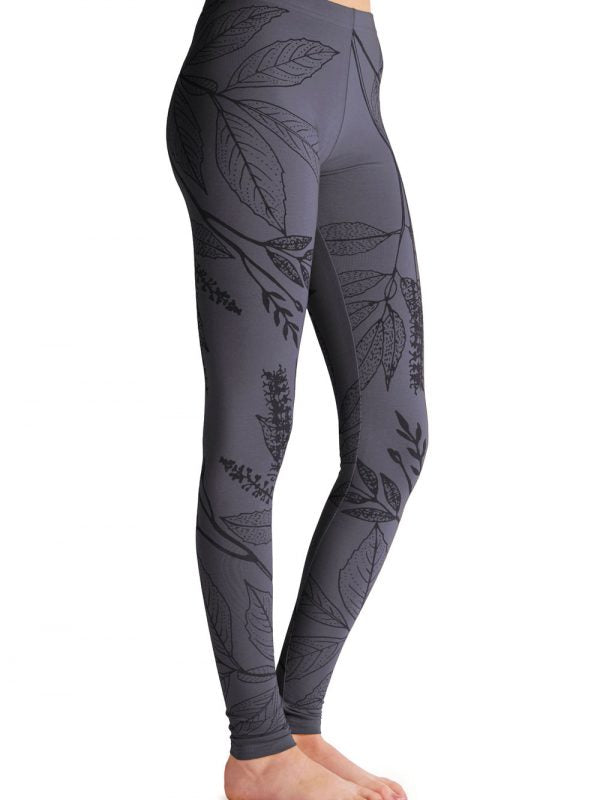 Captain Robbo 'Silky Oak - Charcoal' women's cotton leggings