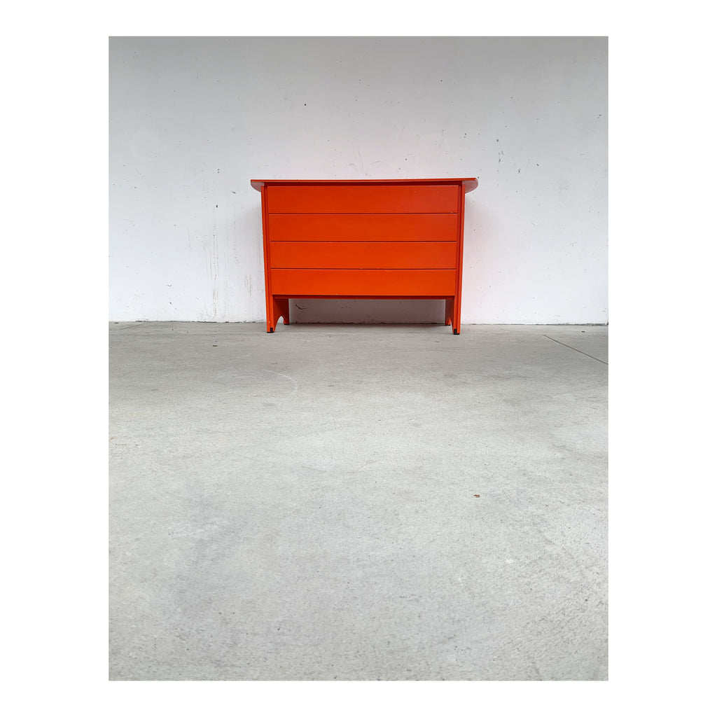 Orange chest of drawers