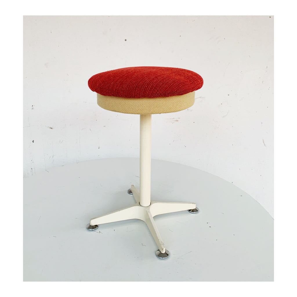 Red and white stool