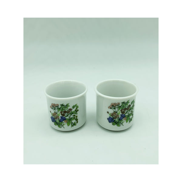 Pair of porcelain small glasses