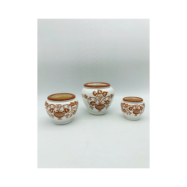 Tryptich ceramic vases