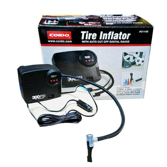 Coido Tire Inflator with Digital Gauge (2114D)