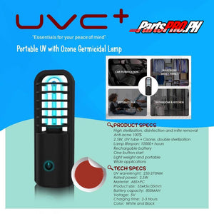 UVC+ Portable UV with Ozone Germicidal Lamp