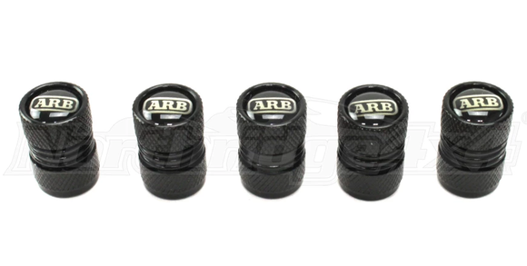 ARB Tire Valve Caps (Black/Silver/Red)