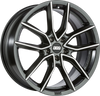 BBS WHEELS (GERMANY) NIGHT FEVER BLACK / DIAMOND CUT 8.5 x 20 (XA)