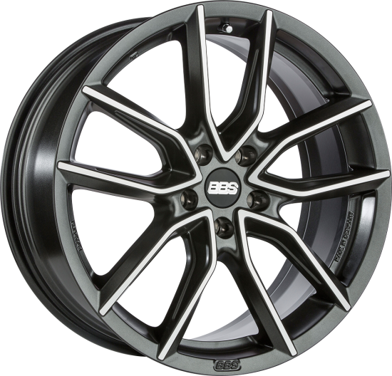 BBS WHEELS (GERMANY) NIGHT FEVER BLACK / DIAMOND CUT 9.5 x 20 (XA)