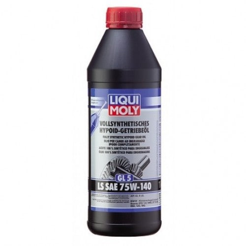 LIQUI MOLY FULLY SYNTHETIC HYPOID GEAR OIL (GL5) LS SAE 75W-140 1L