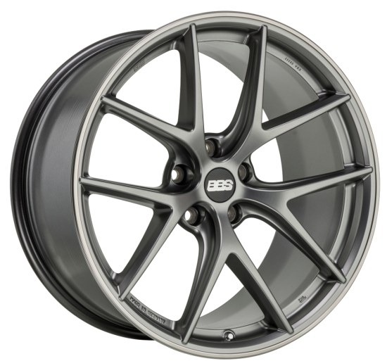 BBS WHEELS (GERMANY) SATIN PLATINUM WITH RIM PROTECTOR 8.5 x 19 (CI-R)