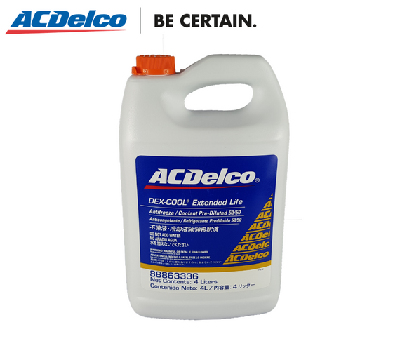 ACDelco Dex-Cool Pre-Mix Antifreeze/Coolant 50/50 (Orange) 4 Liters