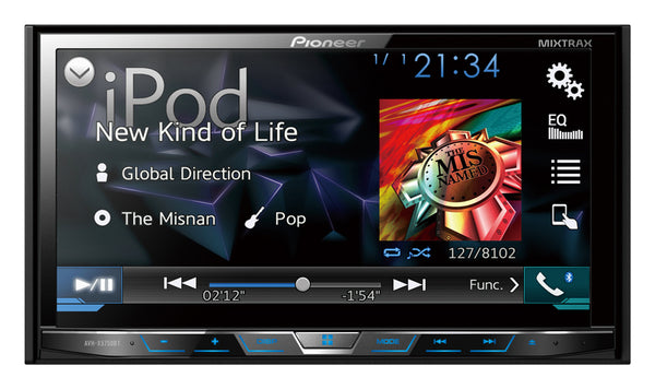 "Pioneer AVH-X5750BT 7"" AV Receiver with DVD/Divx, USB, Bluetooth & Mirror Link"