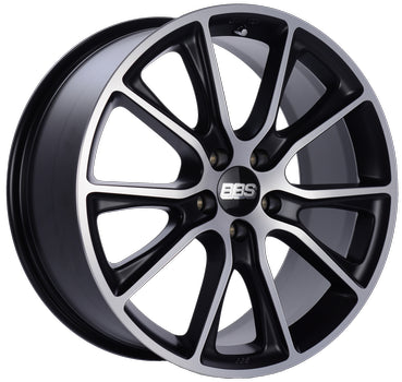BBS WHEELS (GERMANY) SATIN BLACK WITH DIAMOND CUT 10.5 x 22 (SV)
