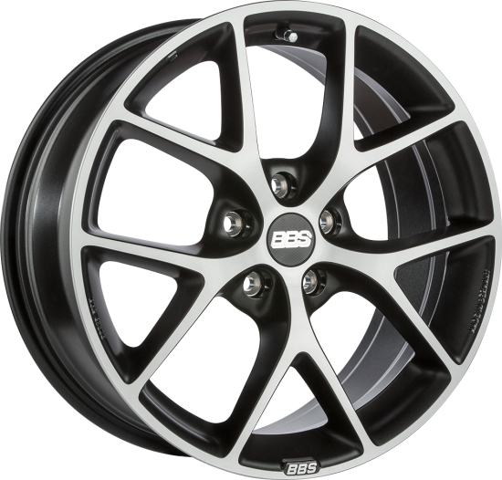 BBS WHEELS (GERMANY) VOLCANO GREY/DIAMOND CUT 8.0 x 17 (SR)